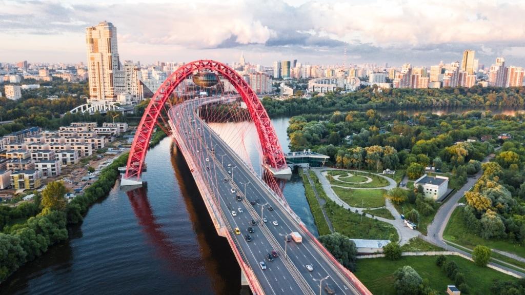 Zhivopisnyy Most Brücke Moskau