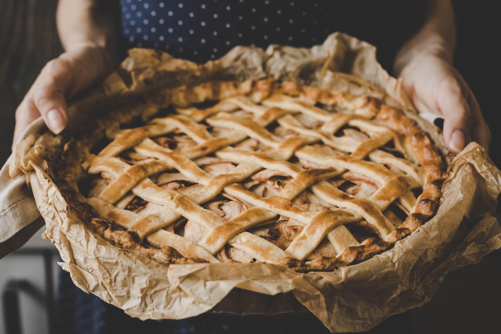 Selbst gebackener Apfelkuchen