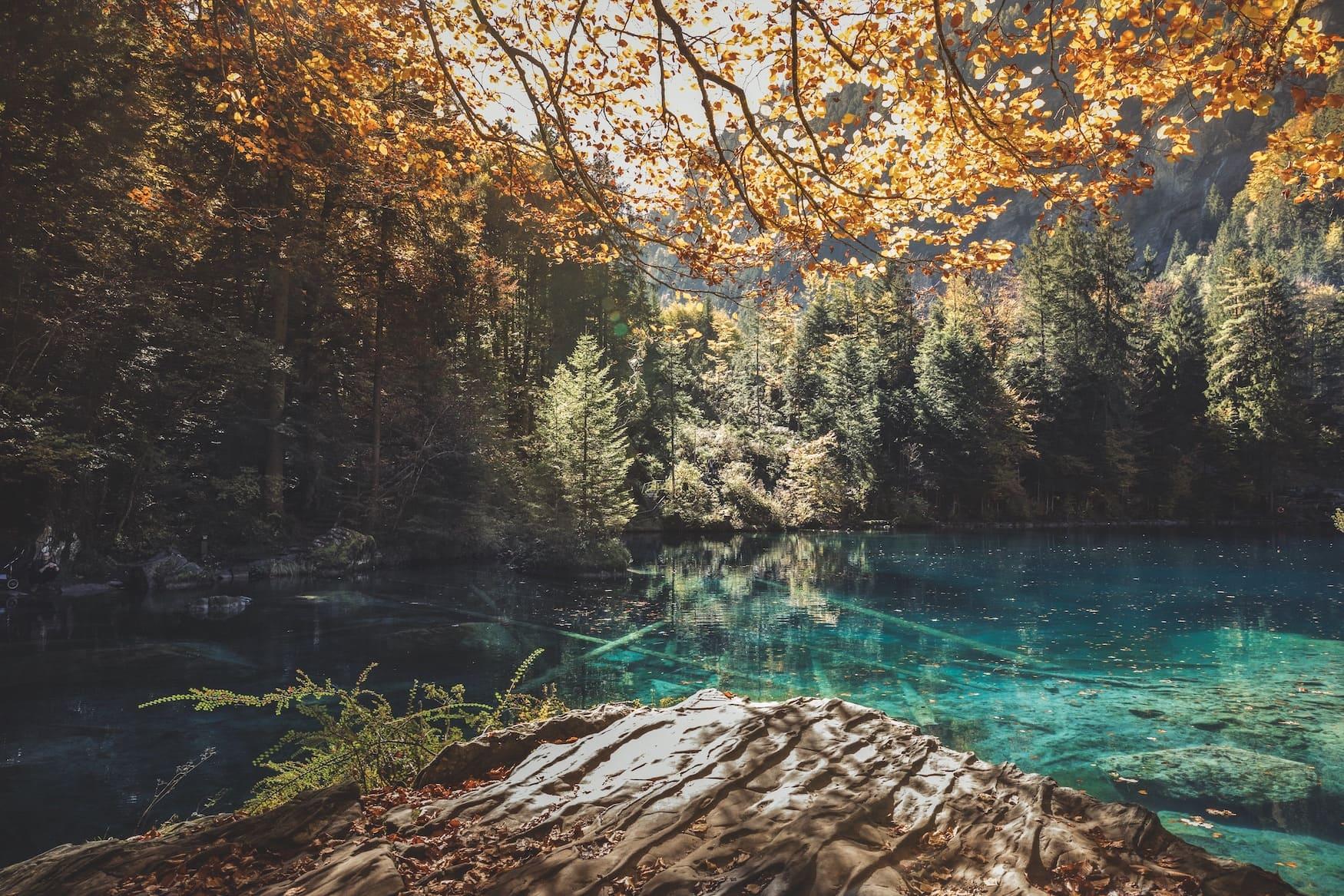 Herbststimmung am Blausee