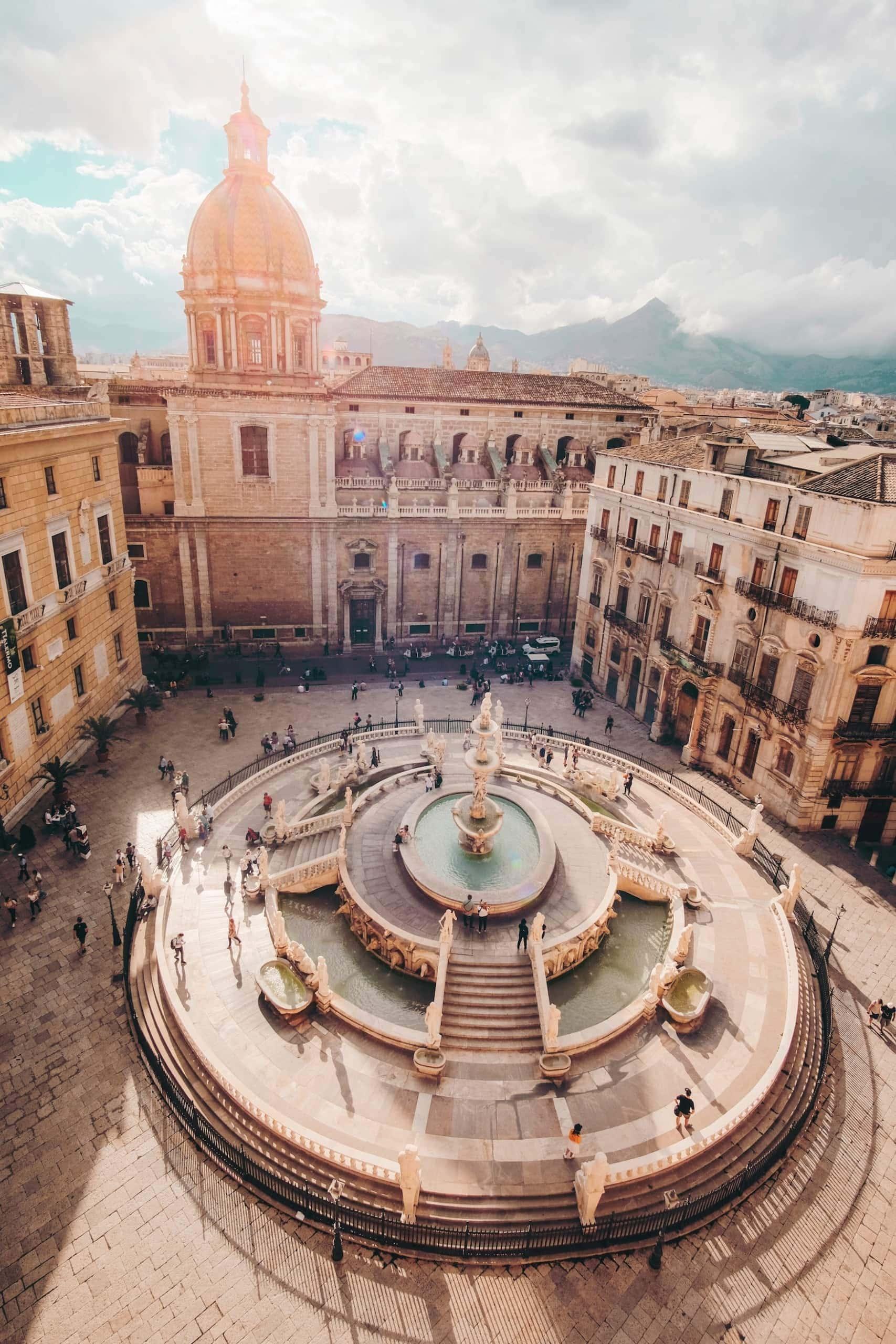 Platz in Palermo, Sizilien