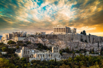 Blick auf Athen mit Akropolis