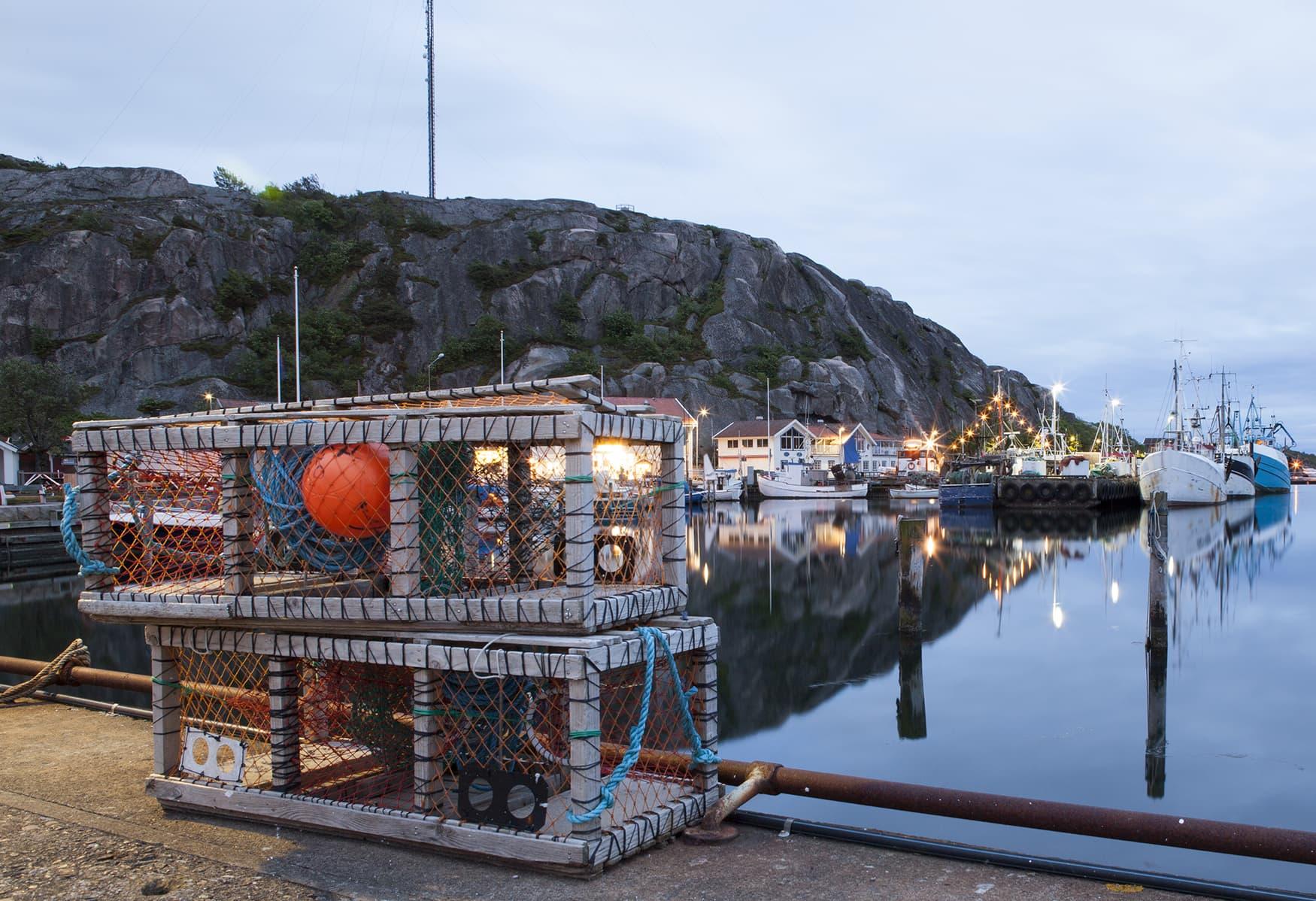 Fischerhafen in Westschweden