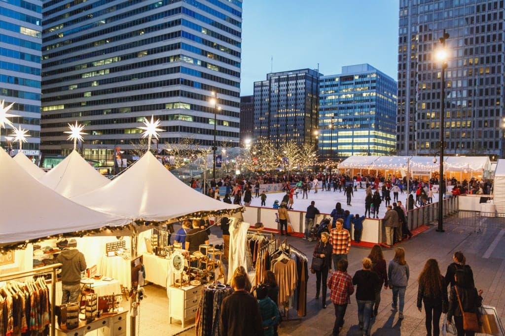 Weihnachtsmarkt in Philadelphia