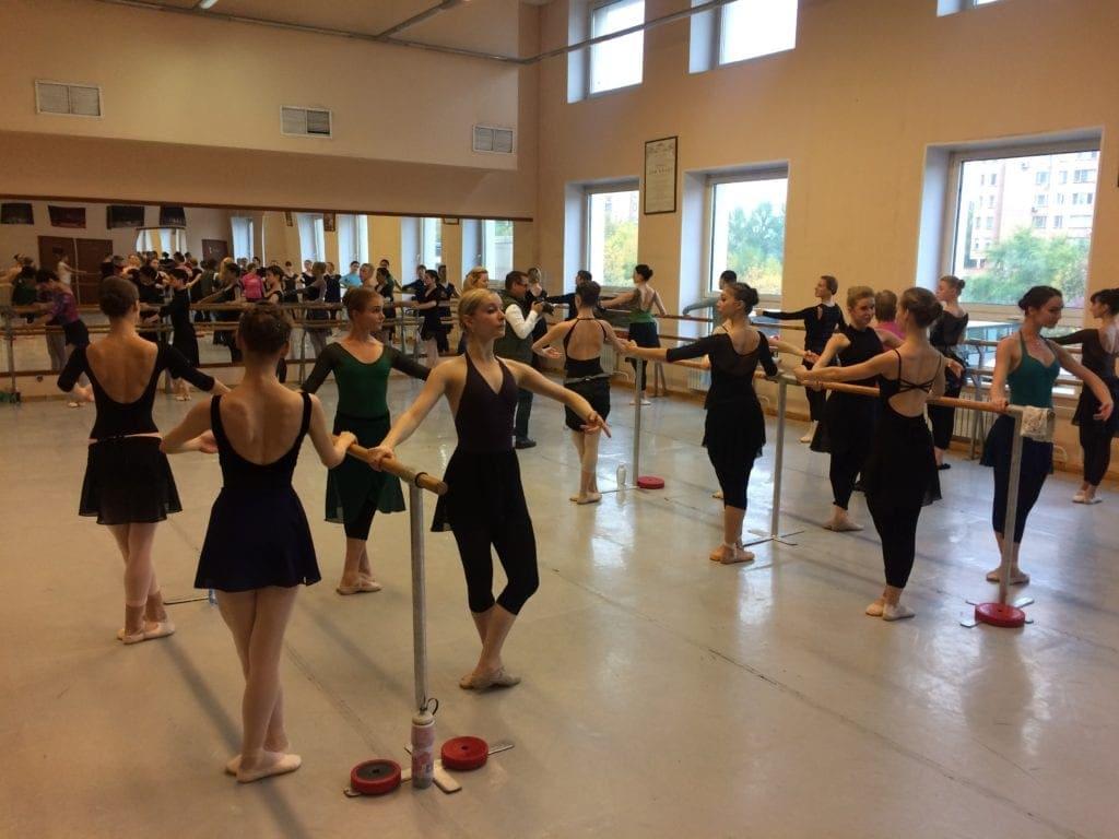 Training des Staatlichen Russischen Ballett Moskaus