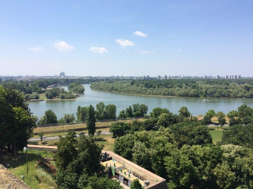 Ausblick vom Kalemegdan in Belgrad