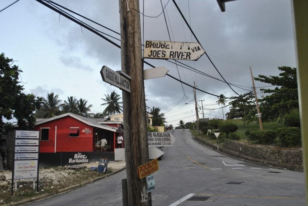 Kreuzung auf Barbados
