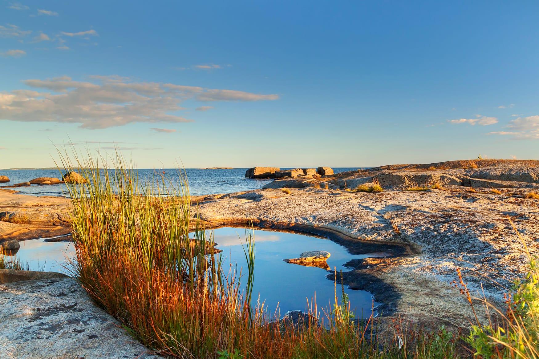 Goldenes Licht in Westschweden