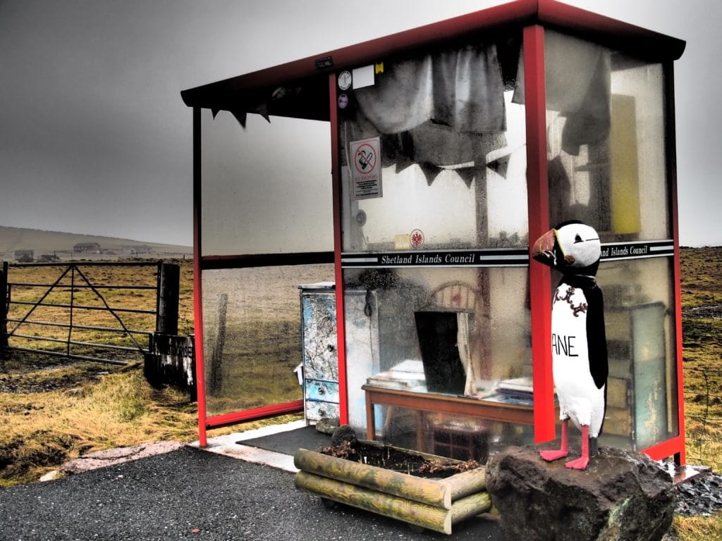 Unst - die berühmteste Bushaltestelle Grossbritanniens