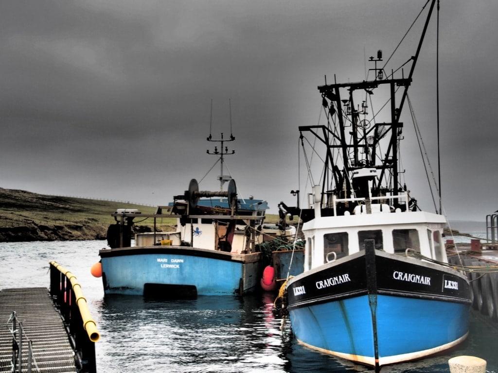 Fischerboote auf Mainland - Shetland