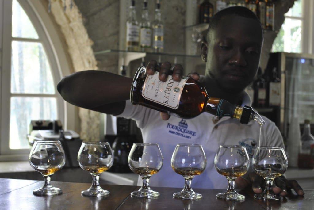Rum-Tasting auf Barbados