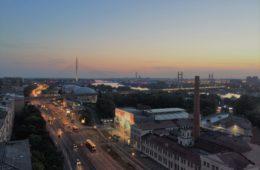 Blick auf Belgrad vom Dach des BIGZ-Gebäudes