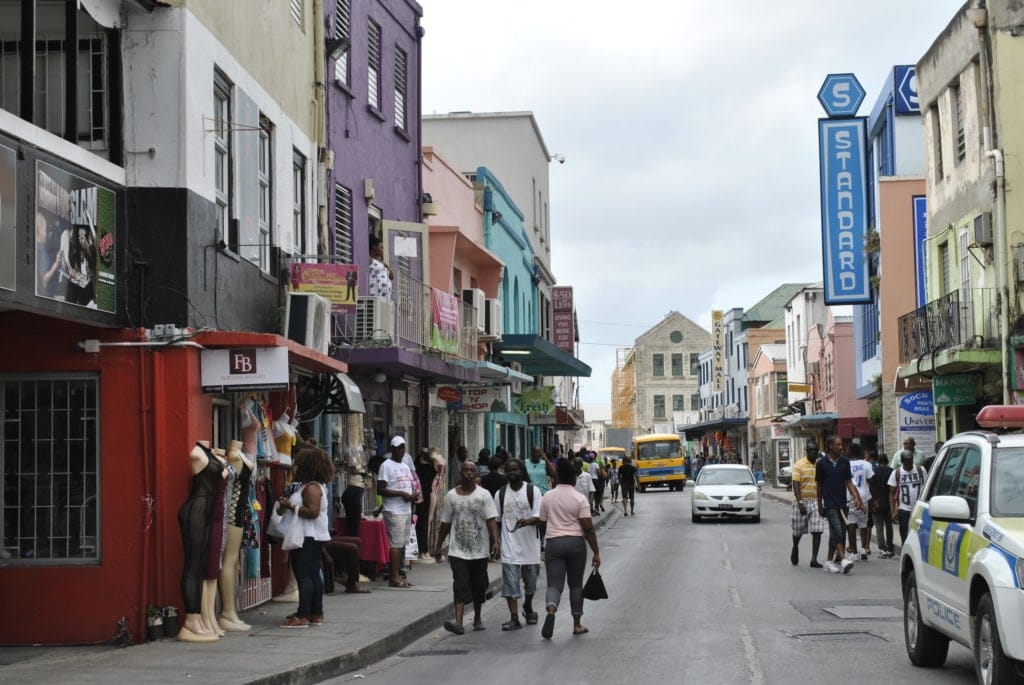 Swan Street in Bridgetown auf Barbados