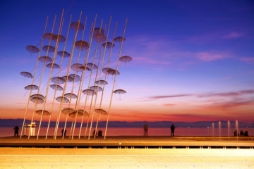 Regenschirm-Installation in Thessaloniki
