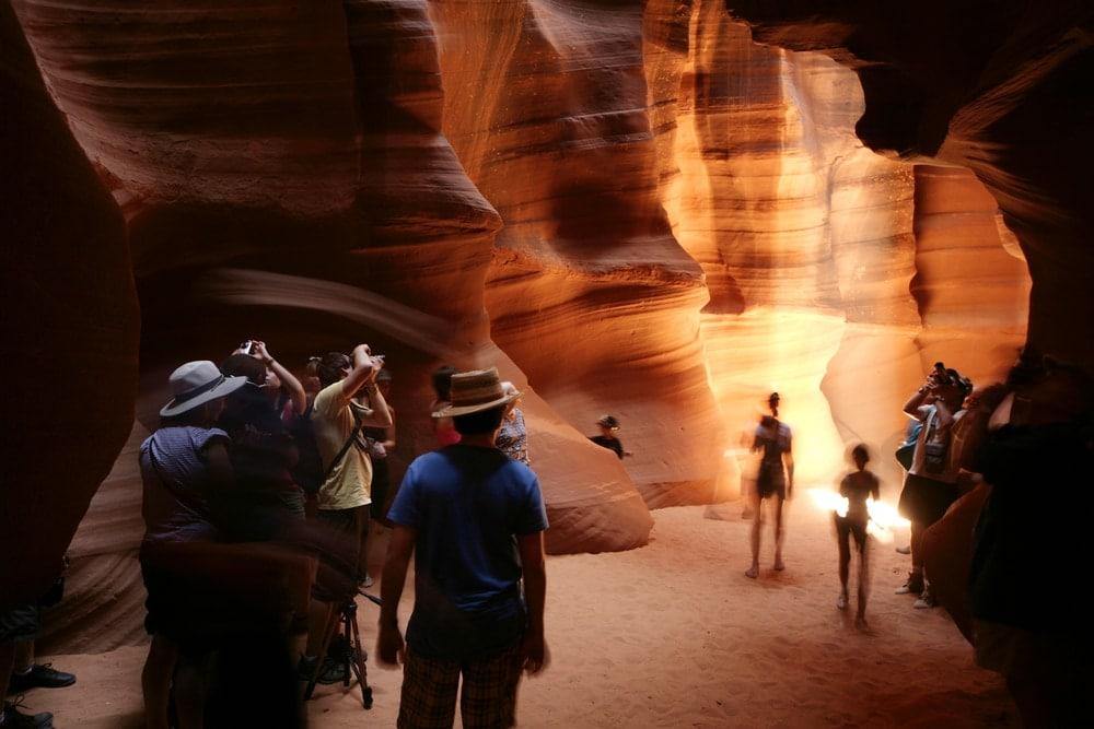 Touristen im Upper Antelope Canyon