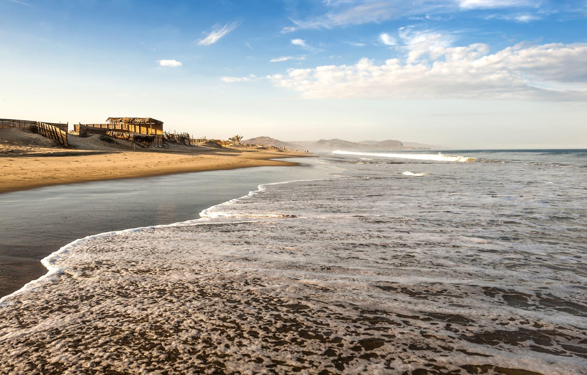 Strandabschnitt in Peru