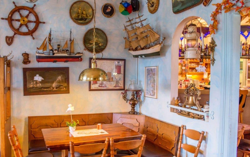 """Gastraum Restaurant """"Zum glücklichen Matthias"""" in Wyk auf Föhr"""