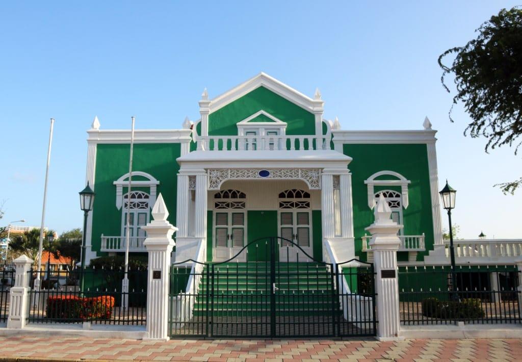 Historisches Haus in Oranjestad auf Aruba