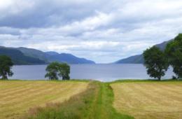 Blick auf den See Loch Ness