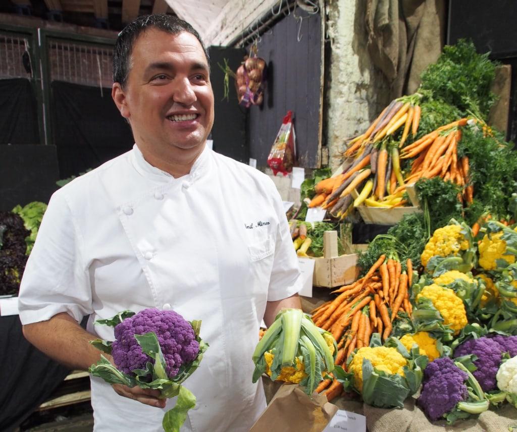 Shangri-La Küchenchef auf dem Bourough Market in London