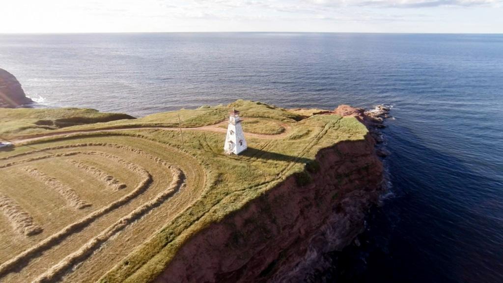 Cape Tyron auf Prince Edward Island aus der Vogelperspektive