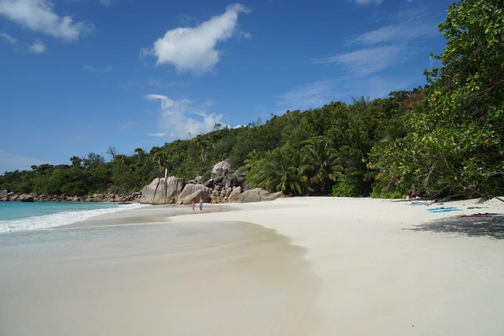 Praslin Anse auf den Seychellen