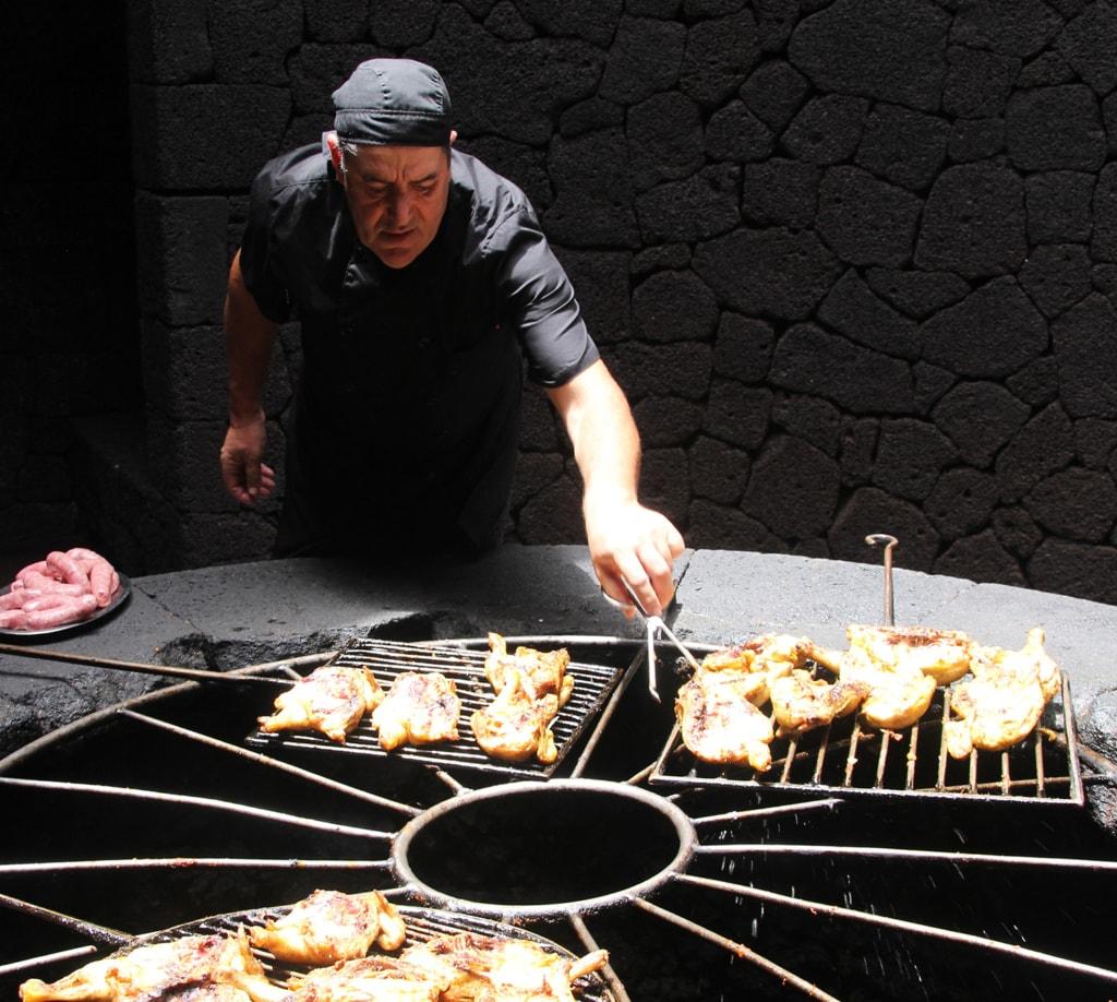 Koch auf Lanzarote