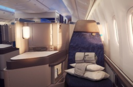 Sitz in der United Polaris Business Class