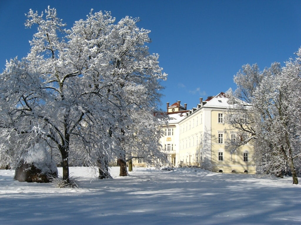 Winter auf Schloss Lübbenau