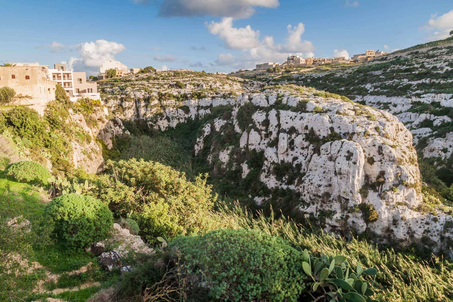 Grüne Landschaften auf Gozo
