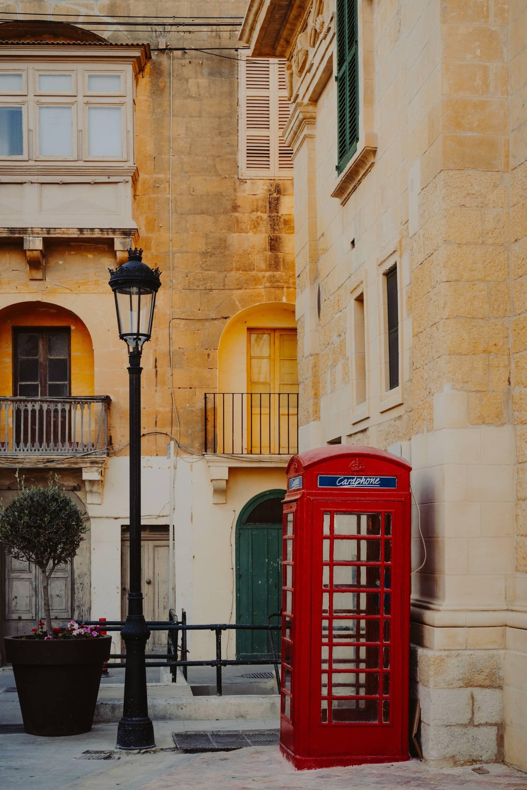 Britische Telefonzelle auf Malta
