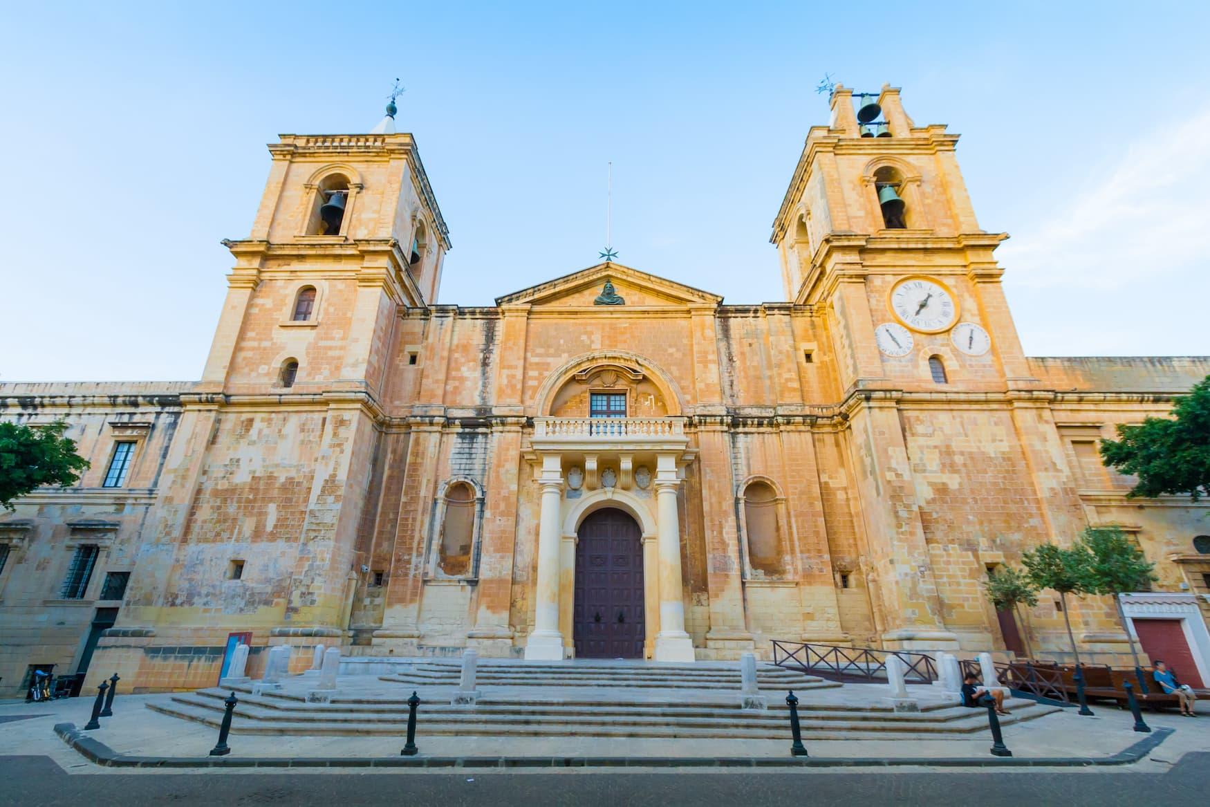 St. Johns Co-Cathedral in der Altstadt von Valletta auf Malta