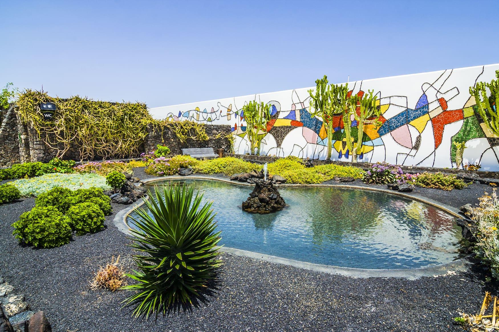 Kunst, Garten, Lanzarote, Insel