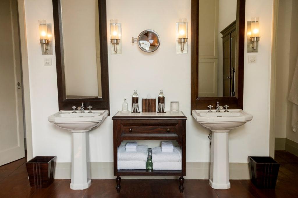 Waschbecken in der Amangalla Suite