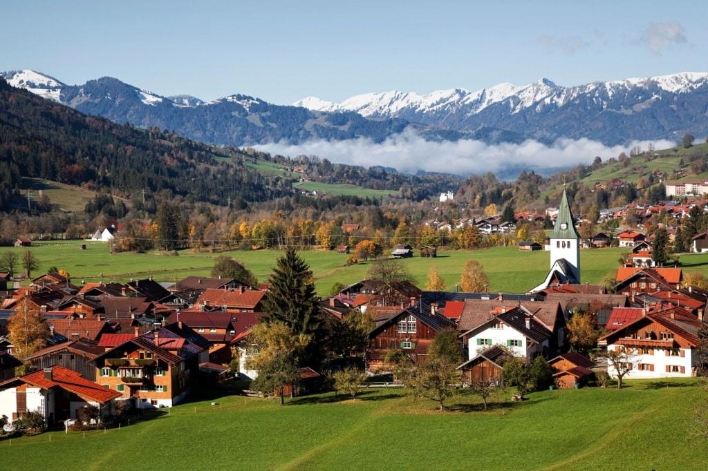 Bad Hindelang in den Alpen