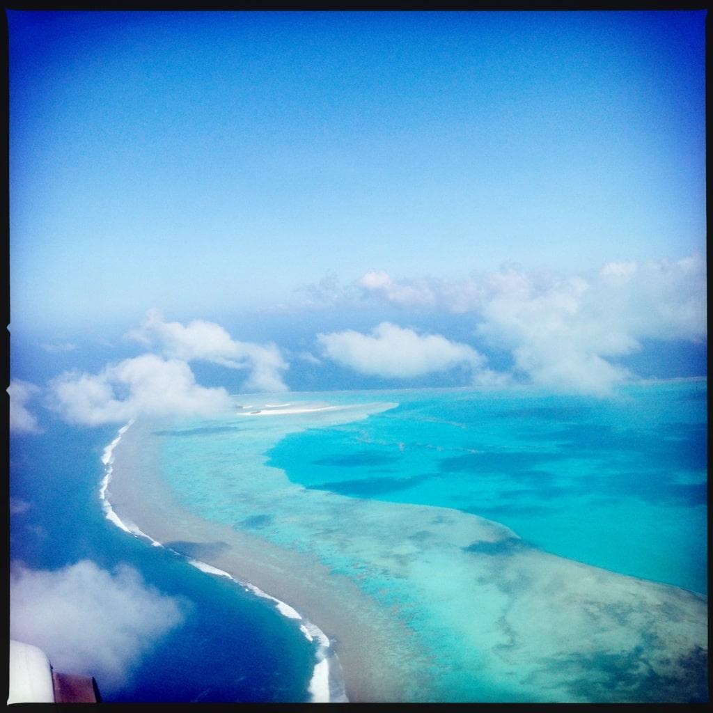 Cookinseln aus der Luft