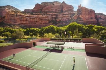 schönsten Hotel-Tennisplätze der Welt: Tennisplätze im Enchantment Resort Arizona