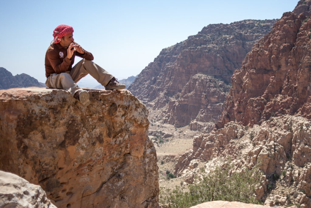 Guide im Naturreservat Dana in Jordanien