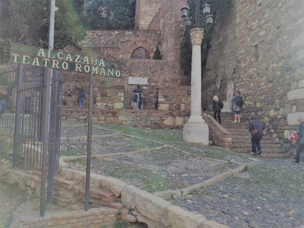 Eingang Alcazaba in Malaga