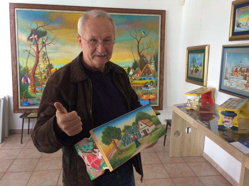 Künstler Pavel Babka in Kovačica (Serbien)