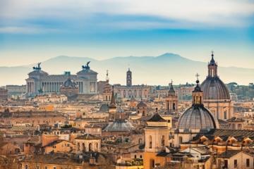 Blick auf Rom vom Castel Sant'Angelo aus