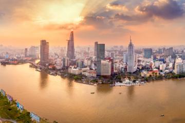 Skyline von Saigon, Ho-Chi-Minh-Stadt