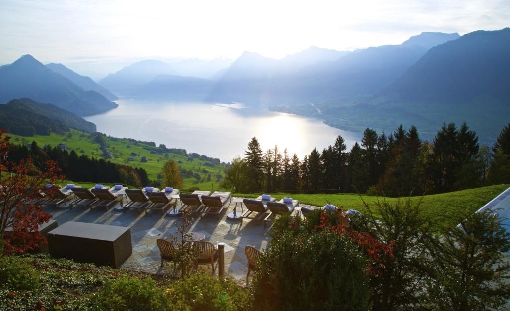 Die Aussicht vom Hotel Villa Honegg ist einfach atemberaubend.
