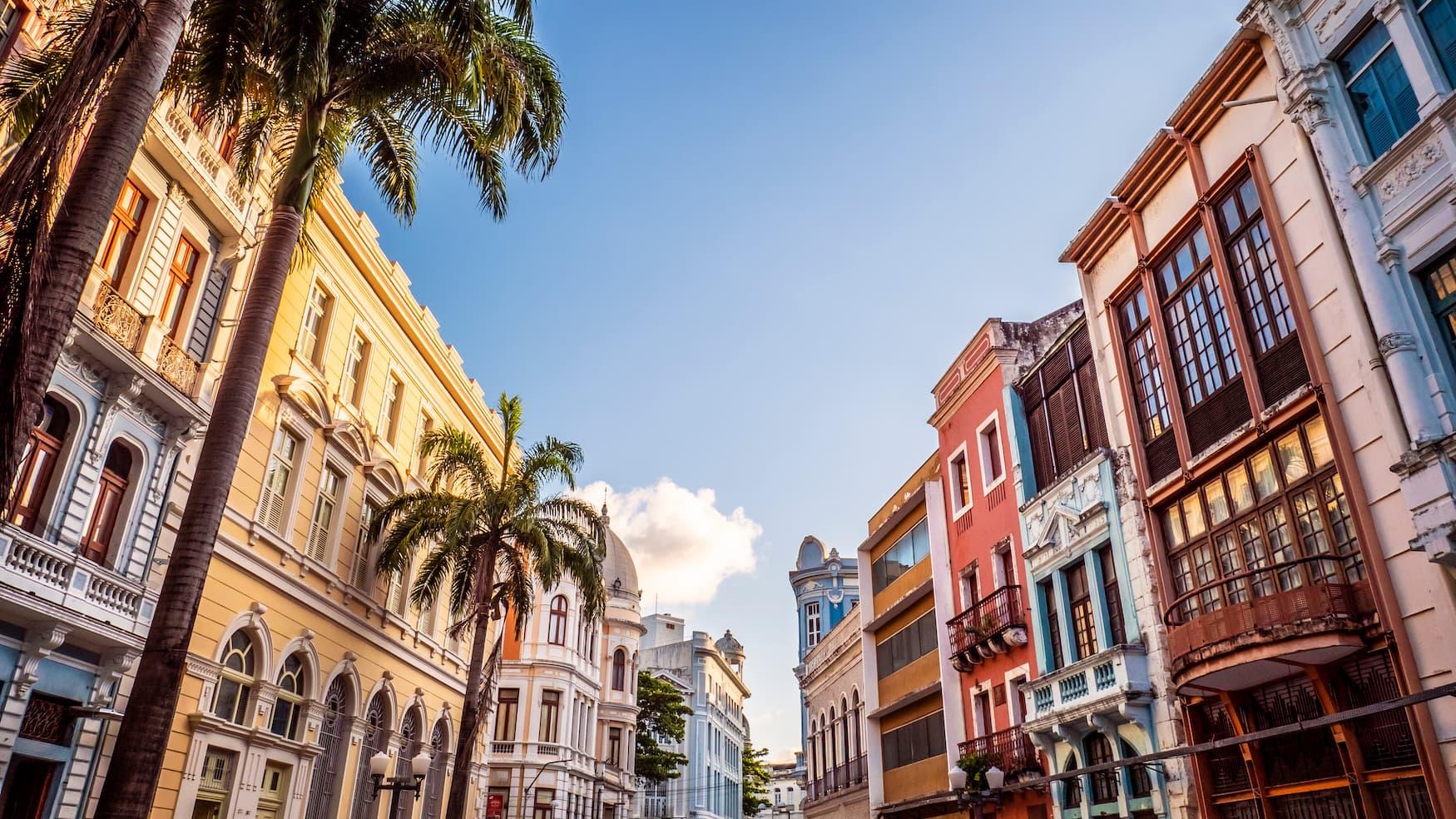 Altbauten in Pernambuco in Recife, Brasilien