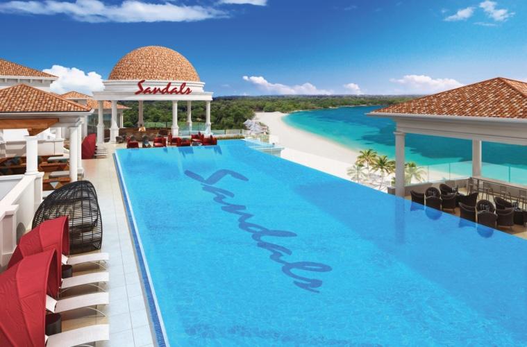 Pool im Sandals Royal Barbados