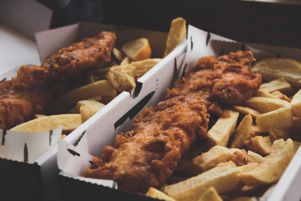 Fish'N'Chips ist ein Muss bei jedem England Besuch, so auch in Newcastle