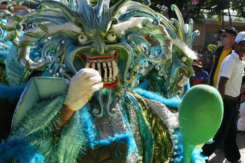 Karnevalsteilnehmer in Dominikanischen Republik