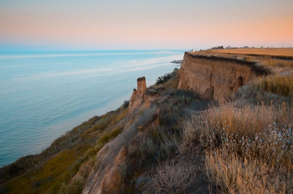Felsen an der Küste in der Nähe von Odessa, Ukraine