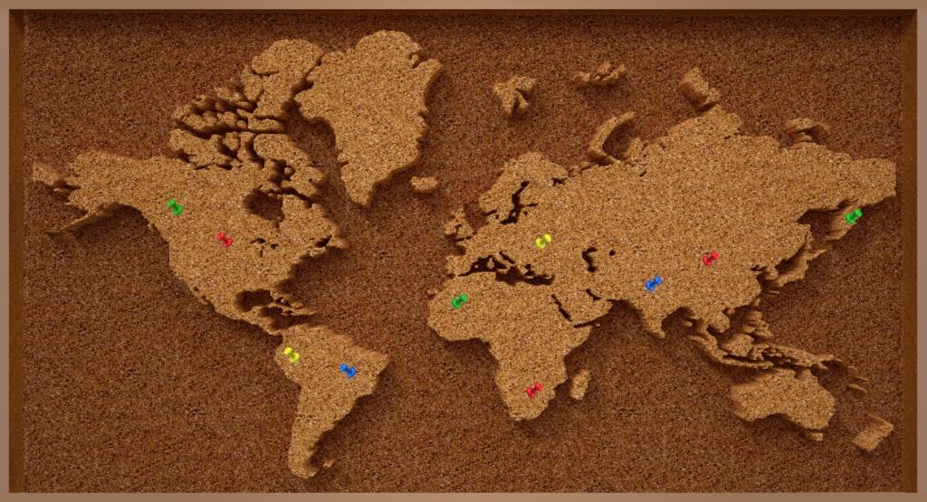 Bestücke deine eigene Weltkarte mit den schönsten Urlaubsfotos!