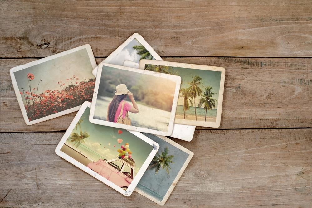 Ausgedruckte Urlaubsfotos