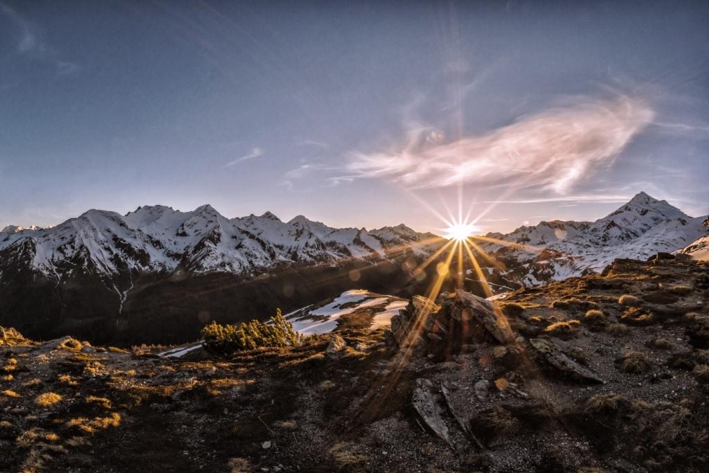 Blick auf die Berge in Südtirol